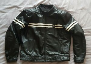 Furygan GTO Leather Jacket Motorcycle Motorbike Black 3XL USED