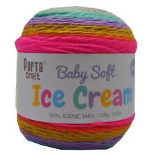 Baby Ice Cream Yarn 15g 515m 100 Acrylic 3 Ply Like Caron Cake Mermaid Tail