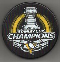 Pittsburgh Penguins 2016 NHL Stanley Cup Champions Hockey Puck + FREE Cube