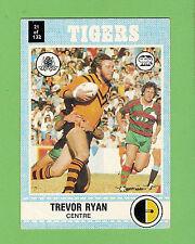 1977 SCANLENS RUGBY LEAGUE CARD   #21 TREVOR RYAN, BALMAIN TIGERS