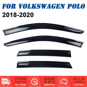 Weather shields Window Visors Weathershields For Volkswagen VW Polo 2018 to 2020