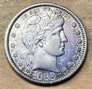 1900-S Barber Quarter  AU/UNC