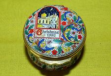 Halcyon Days Enamels Merry Christmas 1992 Trinket Box Limoges Gorgeous