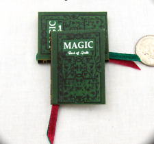 MAGIC BOOK OF SPELLS 1:6 Scale Readable Illustrated Spell Book Miniature Book