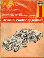 Volvo 240 Series All Models 1974 Thru 1980 Haynes Owners Repair Workshop Manual