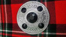 TC traditionnel Highland MOUCHE Plaid Broche 5 BLACK Pierre / kilt écossais