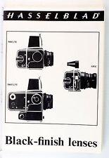 Original Catalog for Hasselblad Black Finish Lenses - Aug. 1973 - 16 pages