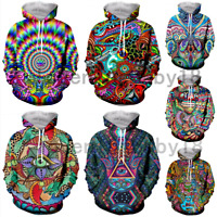 Colorful Trippy funny 3D print Hoodie Men Women Casual Sweatshirt Pullover Tops