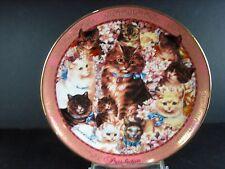 "Franklin Mint Porcelain ""Purr-Fection"" Decorative Plate New Never Used"