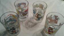 WALT DISNEY WORLD TRIVIA MCDONALD'S  COLLECTIBLE GLASS 100 YEARS SET OF 4