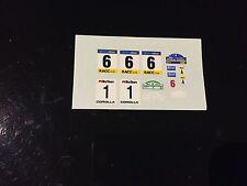 DECALS 1/43 TOYOTA COROLLA WRC LOIX RALLYE HAUTE FAGNES 1998 RALLY BELGIQUE