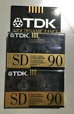 2 TDK SD90 IEC II/TYPE II High Bias Audio Cassette Tape Sealed
