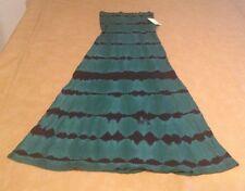 NWT Billabong Small Green Black Striped Skirt / Maxi Dress Long Flowing Fun NEW