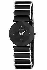 Jowissa Women's J5.227.M Facet Black PVD Steel Black Ceramic Bracelet Watch