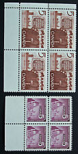 Timbre / Stamp CANADA - Yvert et Tellier n°372 x4 et 374 x4 n** (cyn7)