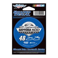 "JIMMIE JOHNSON #48 DAYTONA 500 CHAMPION 2013 NASCAR 3"" ROUND DECAL STICKER"