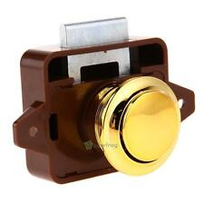 Push Button Catch Lock Pop Up Knob For RV Caravan Boat Motor Home Cupboard Latch