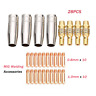 28pcs Welding Torch Nozzles Contact Tips Holders MIG Welder Consumable 1.0&0.8mm