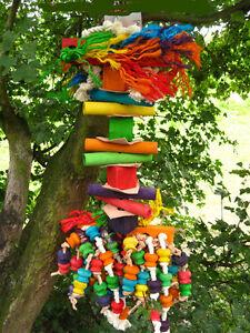 Papageienspielzeug  ! Big  Parrot Tree ! Für unsere großen Zerstörer ! ca.60cm!