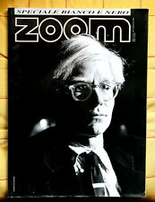 Andy Warhol copertina magazine ZOOM Italia Speciale Bianco Nero #162 anno 1999