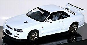 Nissan Skyline R34 GTR V-Spec II Coupe 1998-2003 White 1:43 Autoart
