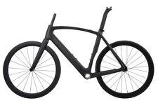AERO Road Bike Frame Carbon Wheel Clincher Tubeless 700C Race Rim Brake 52cm BSA