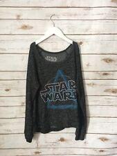 STAR WARS Black Sweater Long Sleeve Scoop Neck Shirt Size S