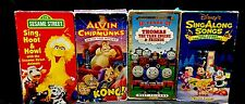 LOT OF 4 CHILDREN'S VHS MOVIES MIXED TITLES DISNEY