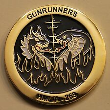 Marine Light Attack Helicopter Sq 26 HMLA-269 Gunrunners Challenge Coin