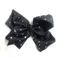 6 / 8 inch Large Hair Bow rainbow Dance Moms girls accessories kids clip romany