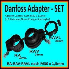 1x Adapter-SET Danfoss RA-23mm RAV-34mm RAVL-26mm  für Heimeier Energiespar Regl