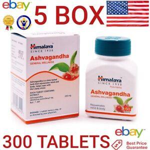 Ashwagandha HIMALAYA Organic 5 BOX 300 tablets Reduce Stress Energy Boost