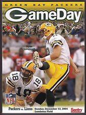 2004 Green Bay Packers v Detroit Lions Program 12/12/2004 Ex 19091