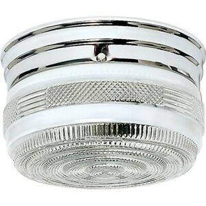 "Nuvo Lighting 2 Light 8"" Flush Mount Medium Crystal / White Drum - 60-6027"