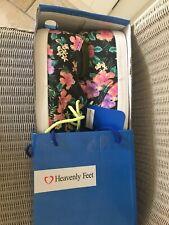 Ladies Heavenly Feet Plimsolls Shoes UK Size 6/39 Floral Alexa