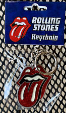 Rolling Stones Tongue Metal Key Chain Silver