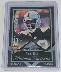 2002 Fleer Platinum Portraits Jerseys Jerry Rice #PP/JR HOF NFL Oakland Raiders
