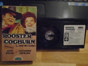 RARE OOP Rooster Cogburn BETA betamax film JOHN WAYNE western Katharine Hepburn