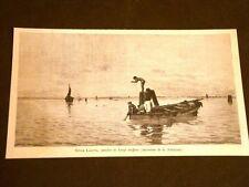 Sulla laguna Quadro di Luigi Steffani del 1887