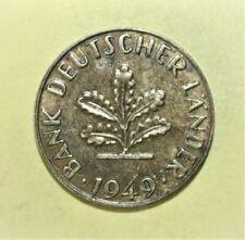 German 10 Pfennig 1949-J Almost Uncirculated Coin - BANK DEUTSCHER LÄNDER