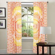 Curtains Bohemian Window/Door Valance Floral Multi Color Divider Mandala