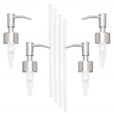 4 Pack Stainless Steel Soap and Lotion Replacement Dispensers Pump durable NEW