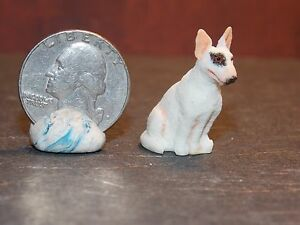 Dollhouse Miniature Bull Terrier Puppy Dog 1:12 inch scale K17 Dollys Gallery