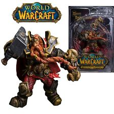 FIGURA WOW WORLD OF WARCRAFT - MAGNI BRONZEBEARD BARBABRONCE FIGURE 15cm BOX.