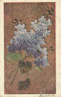 Postcard Blue Flowers Posted 1908