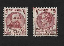 Australia Stamps 1951The 100th Anniv. of the Discovery of Gold/Governance (Z3)