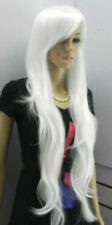 Hot Sell New Fashion Long White Wavy Cosplay Women's Lady's Hair Wig Wigs + Cap