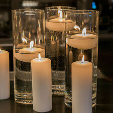NEW 20bulk Cylinder Vases Wedding Glass Table Centerpiece Candle Holders (7.5in)