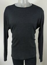 Reiss black striped cotton long sleeve top XL