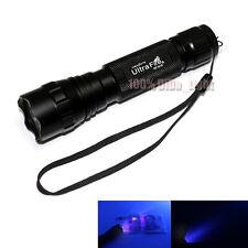 New UltraFire 501B CREE Purple Light UV LED 1Mode 80 Lumens Flashlight